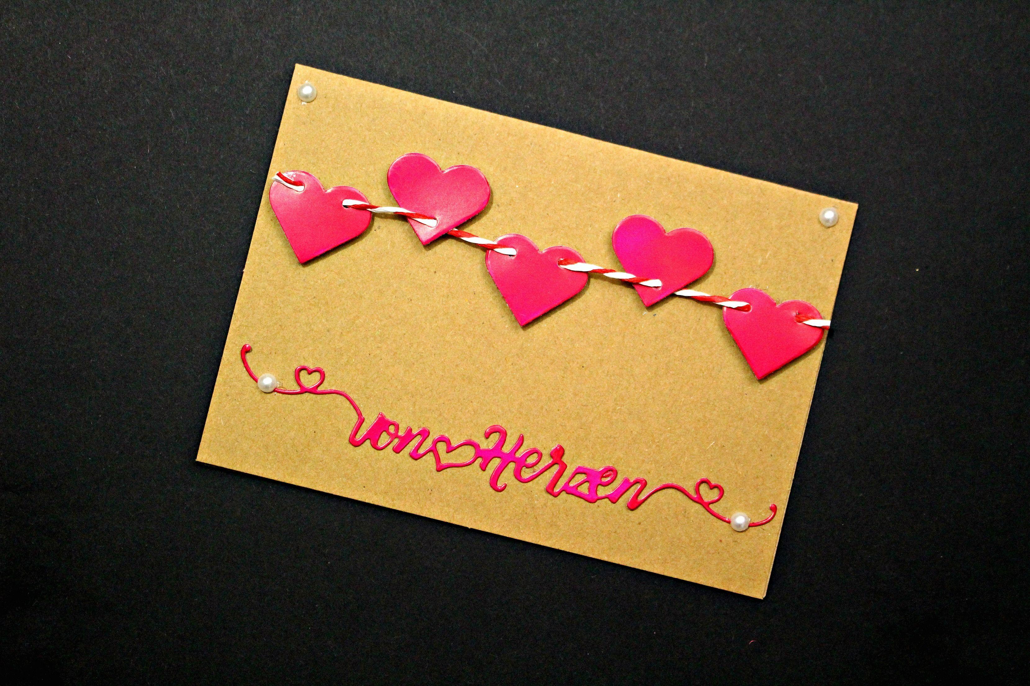 Valentinstag Geschenk Basteln valentinstag diy geschenk basteln karte einfach bastelideen mit