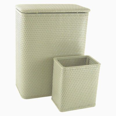 Lowes Laundry Baskets Rebrilliant Laundry Hamper And Waste Basket Set Color Sage Green