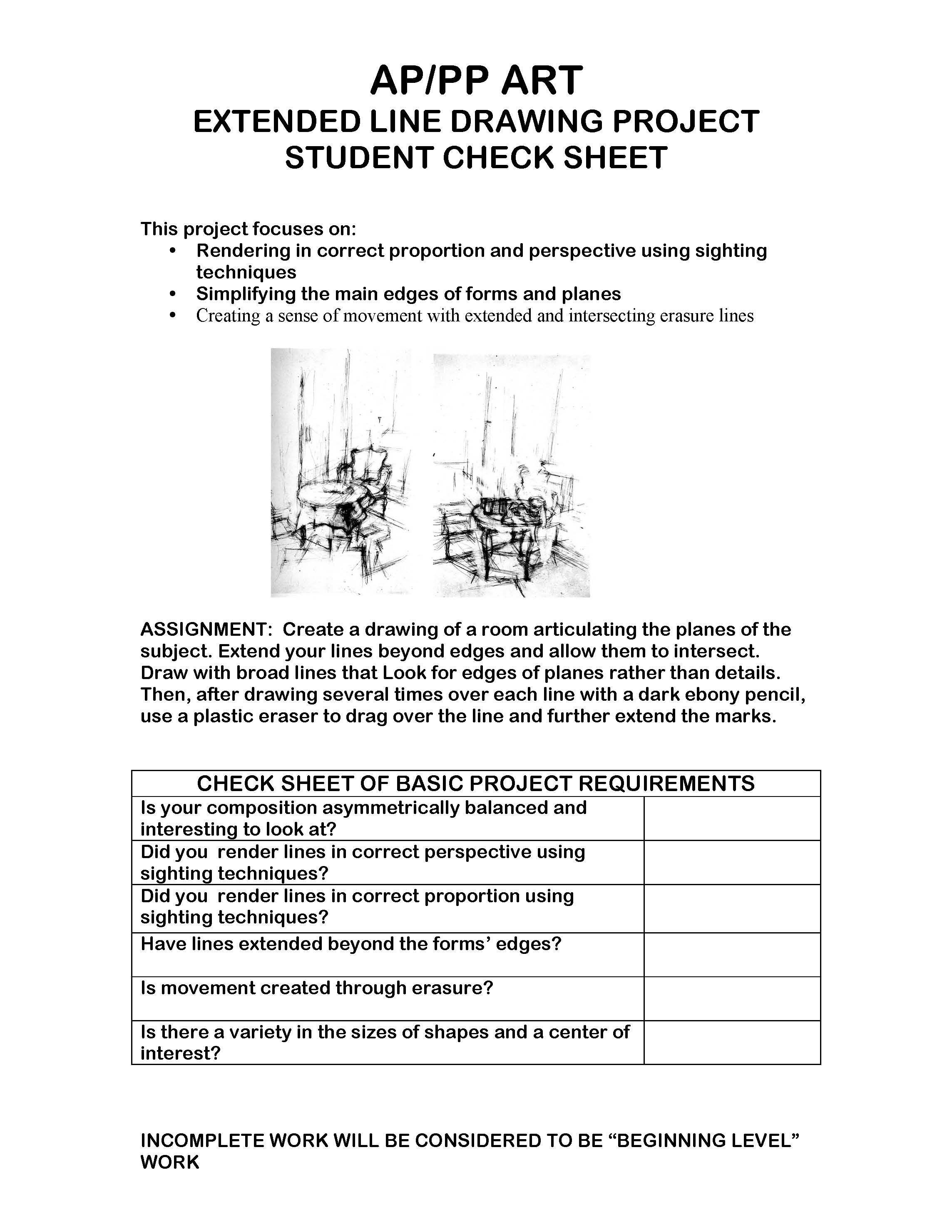 Art Element Space Worksheet