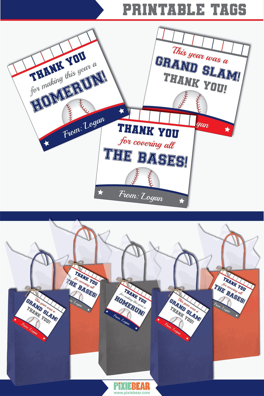 Baseball Teacher Appreciation Tag Printable Baseball Coach Etsy In 2020 Teacher Appreciation Cards Appreciation Printable Teacher Appreciation Printables
