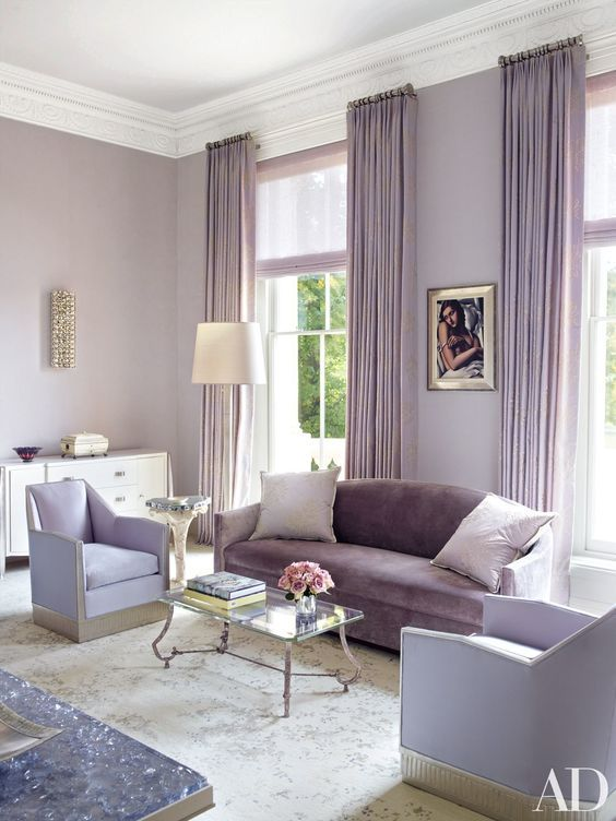 Dazzling Purple Living Room Designs