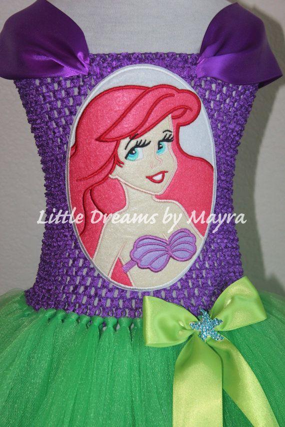 Princess Ariel inspired tutu dress, Under the sea birthday party ...