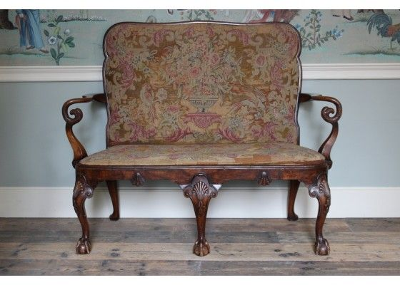 Astounding Antique English George Ii Carved Walnut Sofa For Sale At Machost Co Dining Chair Design Ideas Machostcouk