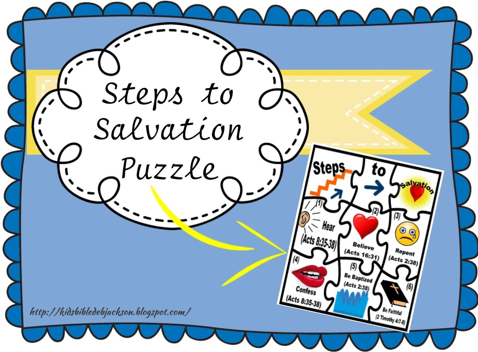 Coloring pages for preschoolers on salavation - Steps To Salvation Puzzle