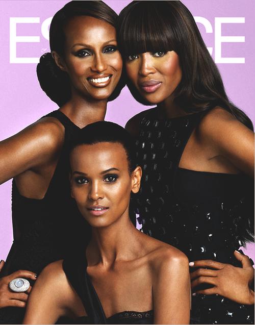 Essence Naomi Iman Liya Black Beauties Beautiful Women African American Models