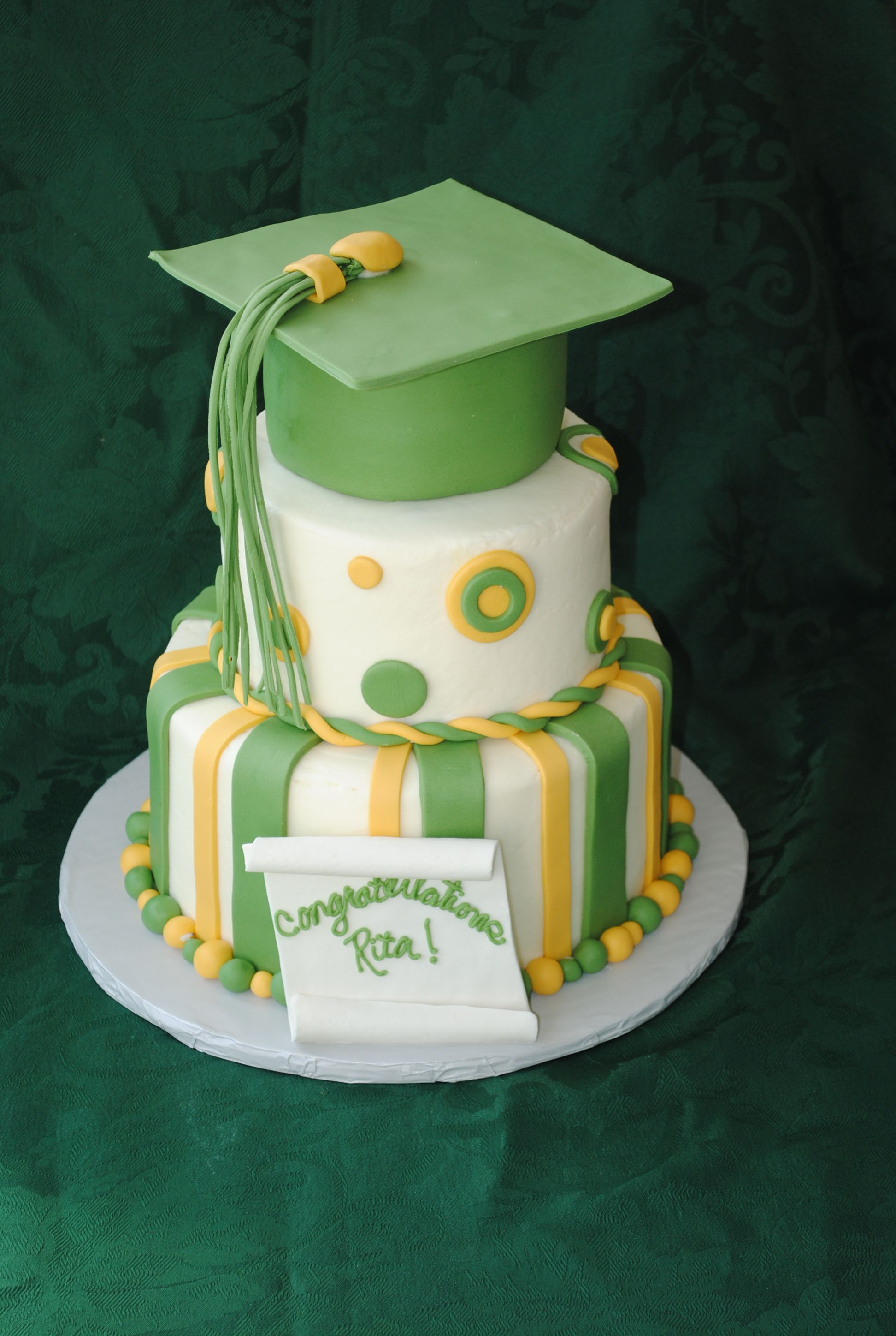 Graduation cap cake chocolate cake with oreo buttercream filling