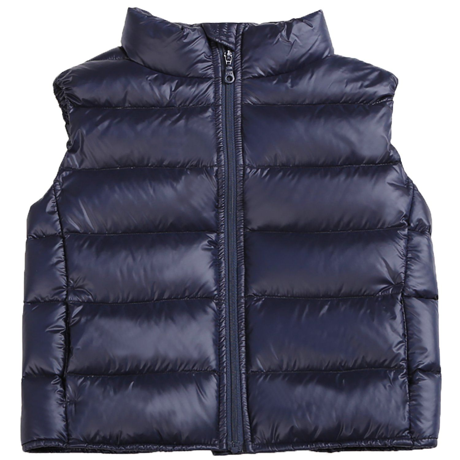 Blue Happy Cherry Kids Winter Warm Puffer Packable Down Jacket Coat for Boys and Girls