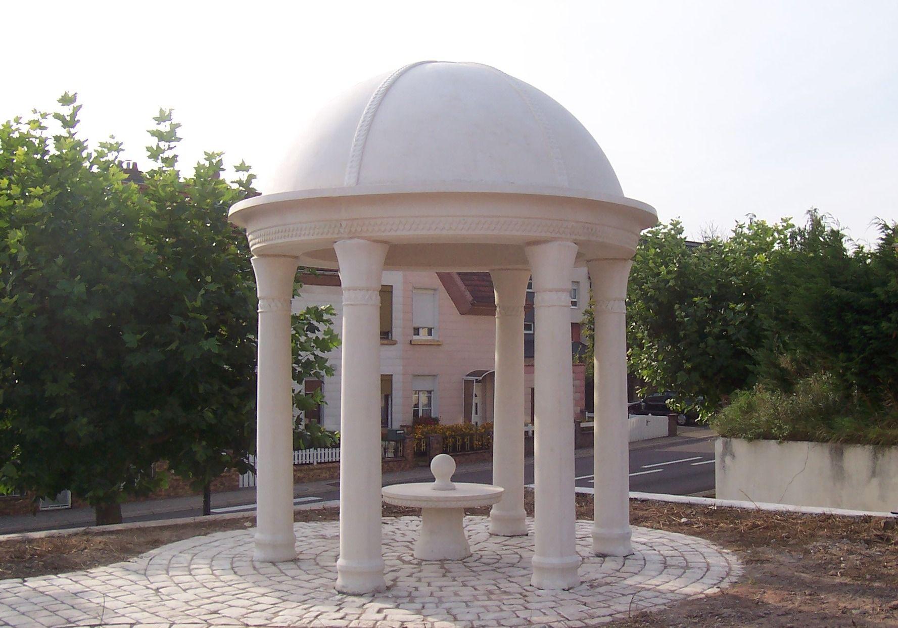 Colonne orientale pour kiosque de jardin en pierre ...