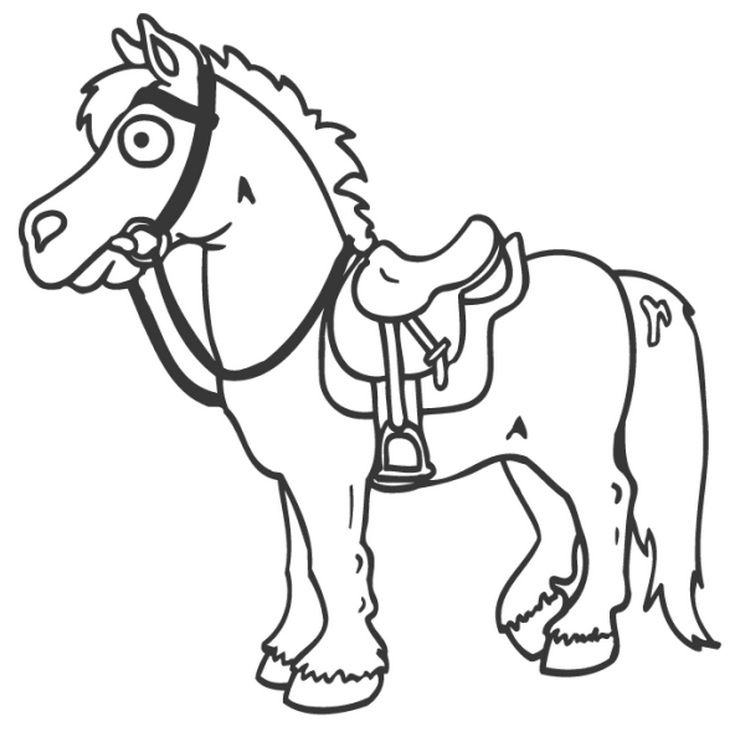 horse with saddle horses horse coloring pages