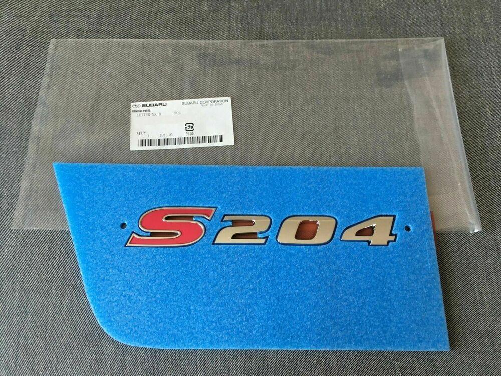 Logo Subaru Impreza Wrx Sti S204 15 7 Cm Badge Original 93073fe860 En 2020