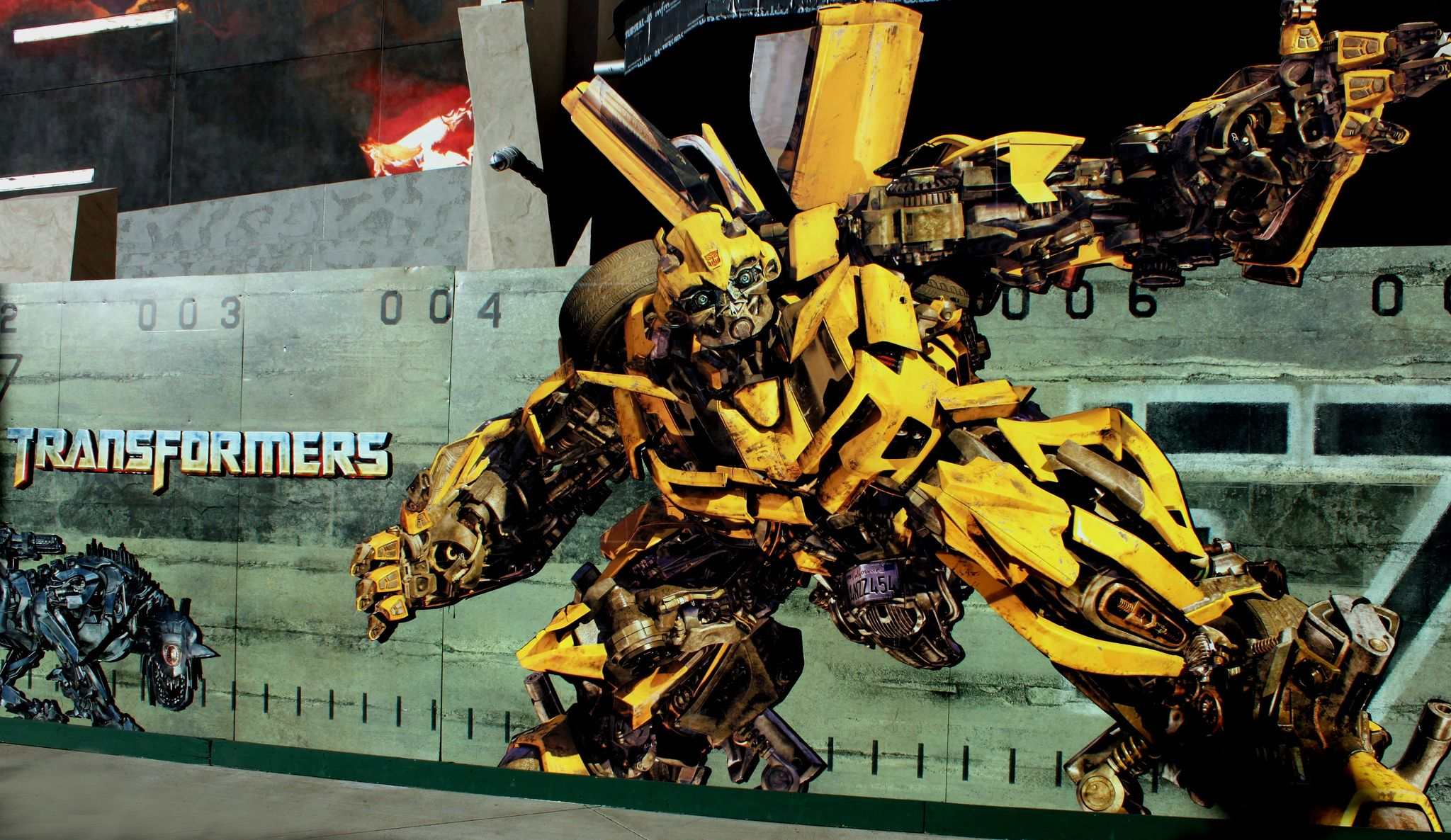 Transformers set at Universal Studios Hollywood