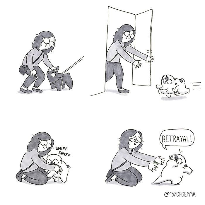 Artist's Comic Series Perfectly Sums Up What It's Like To Live With A Dog