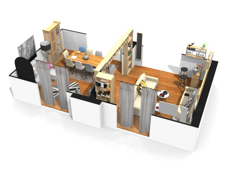 sogg salotto porte 200 apertura 250 4 - Logiciel gratuit HomeByMe - logiciel de plan de maison 3d gratuit