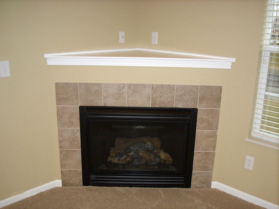 corner fireplace design ideas | Corner Fireplaces Big Tiles Design ...