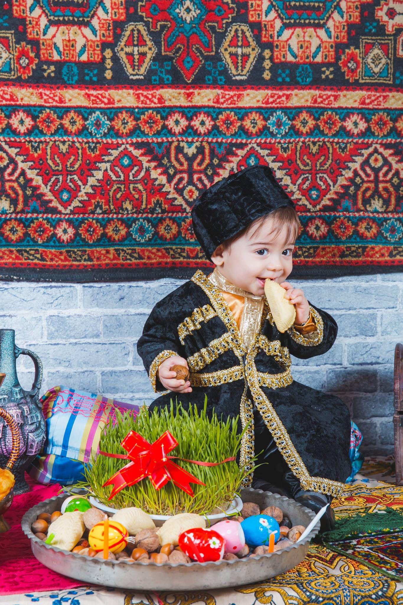 Happy Novruz Holiday Azerbaijan Travel Beautiful Children Azerbaijan