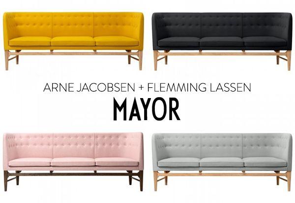 Mayor Sofa 3 Arne Jacobsen