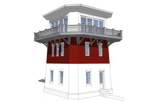 Lighthouse Cabin Plan Strange But I Kinda Like It House Plans Tiny House Plans Small House Plans