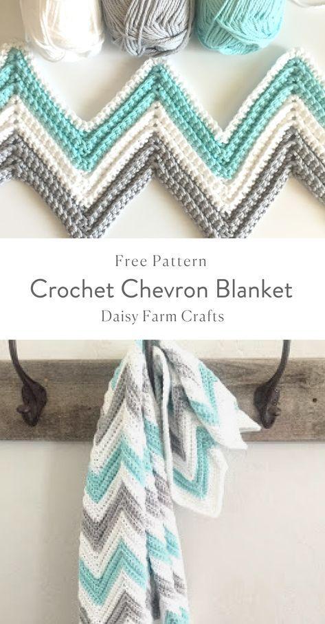 Free Pattern - Crochet Chevron Blanket | Crochet | Pinterest ...