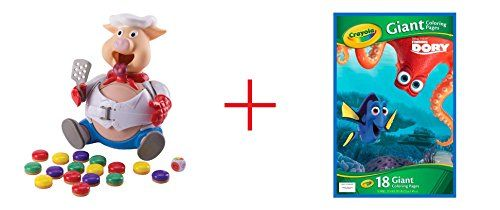 Pop the Pig Game and Crayola Disney Pixar Finding Dory Giant Coloring Pages  Bundle