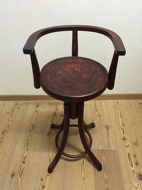 thonet jugendstil bugholz barhocker drehstuhl fris rstuhl. Black Bedroom Furniture Sets. Home Design Ideas