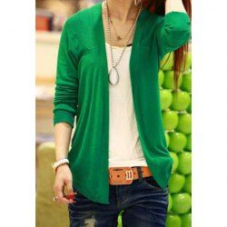 Ladylike Long Sleeve Solid Color Cardigan For Women | Website and ...