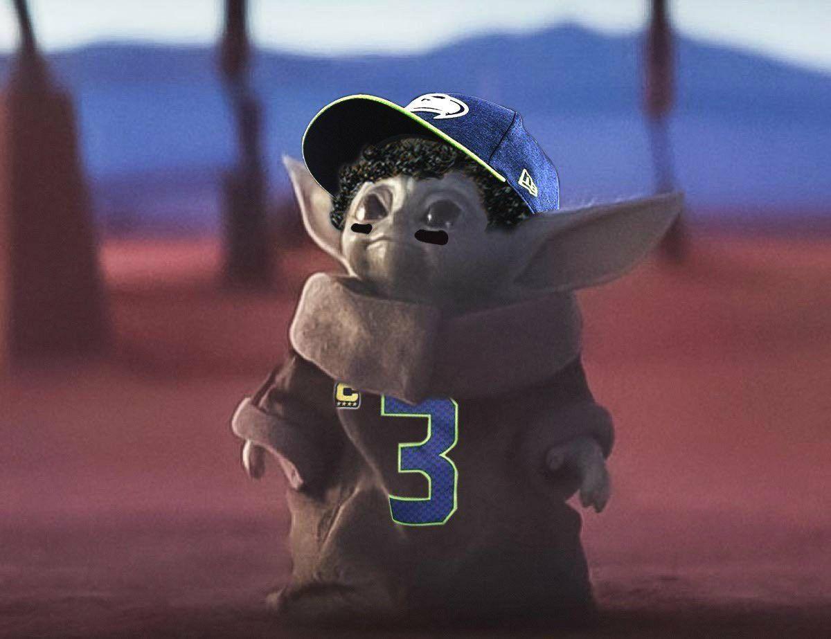 Seattle Seahawks Baby Yoda 3 Russell Wilson 🏈💚💙 Seattle