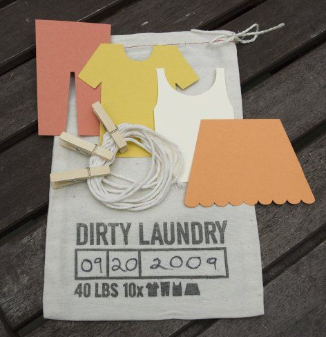 Dirty Laundry Guest Book Kit