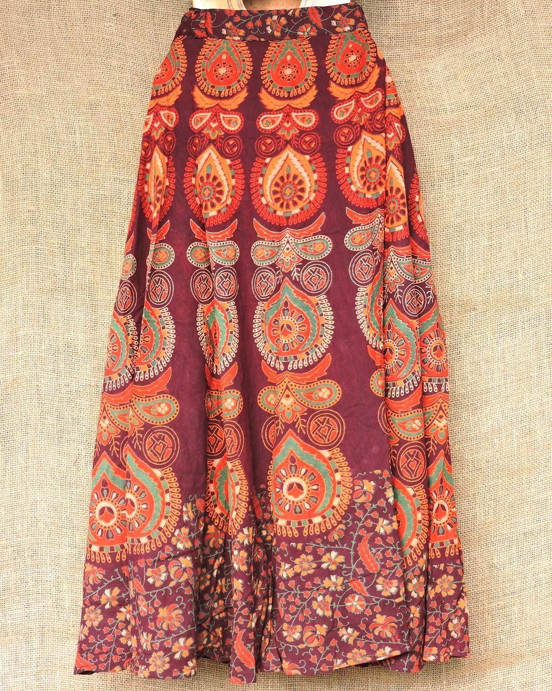 fb093a1489 Roda veste e fica linda! Saias envelope artesanais indianas por ...