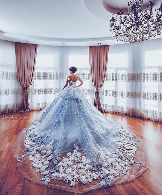 Fleur|| I walk into the ballroom, the long train of my dress ...