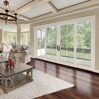 4 panel sliding door for family room integrity - Exterior glass panel french doors ...