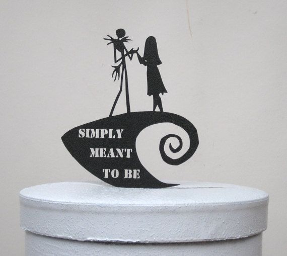Wedding Cake Topper The Nightmare Before Christmas By Plasticsmith 2900