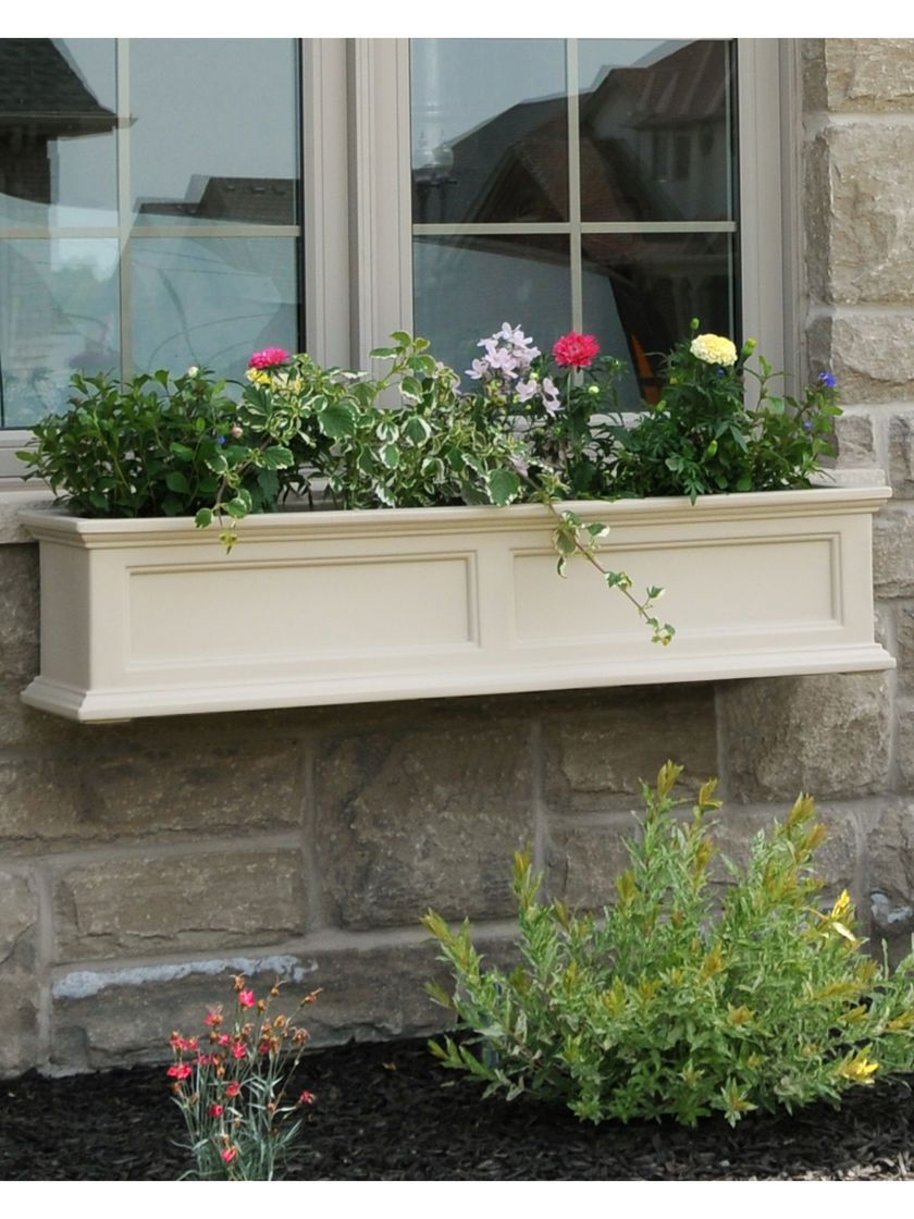 Window box ideas without flowers  window box  fairfield self watering window flower boxes  great