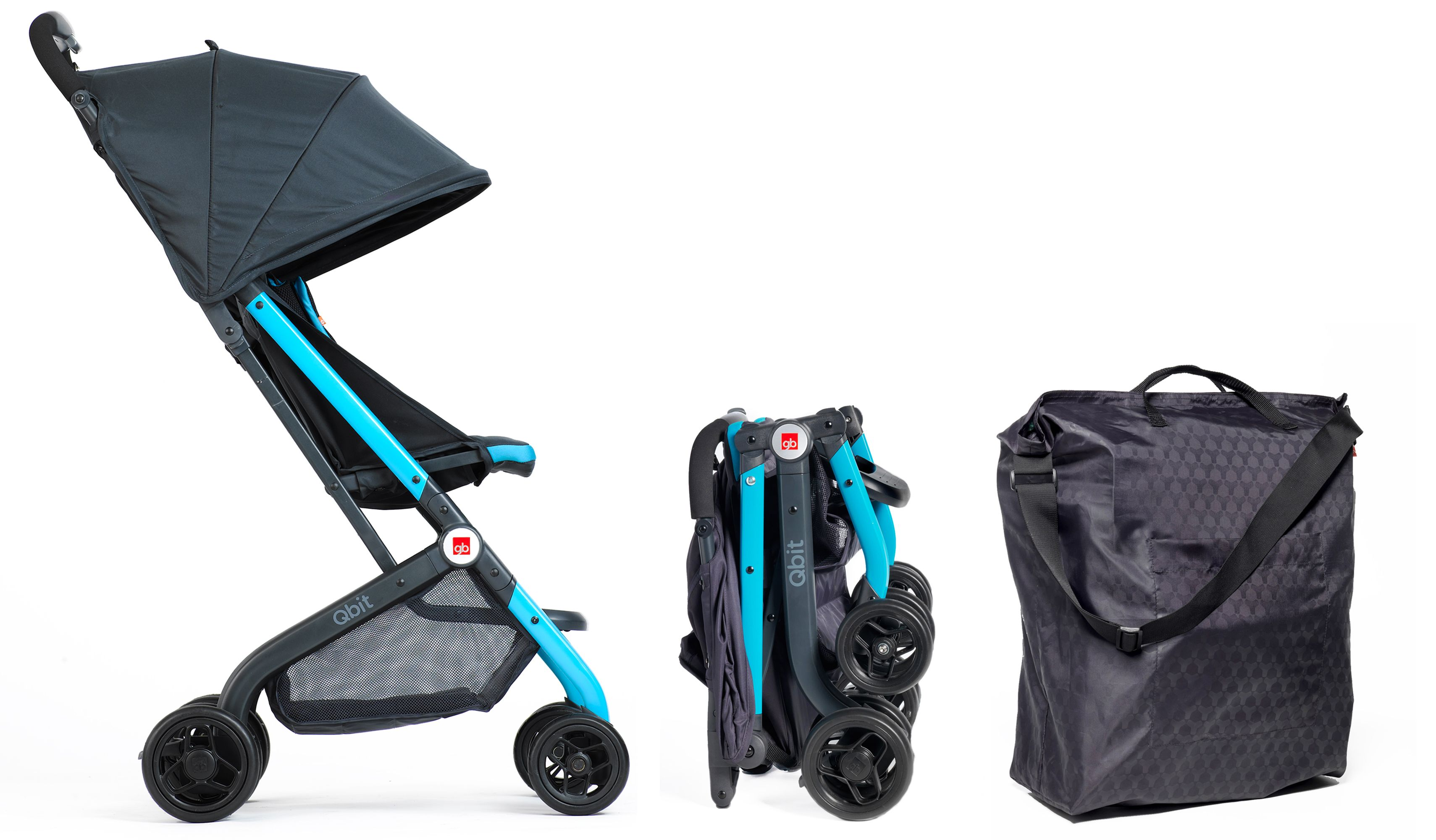 GB Qbit Travel Stroller. Includes carry bag making it easy