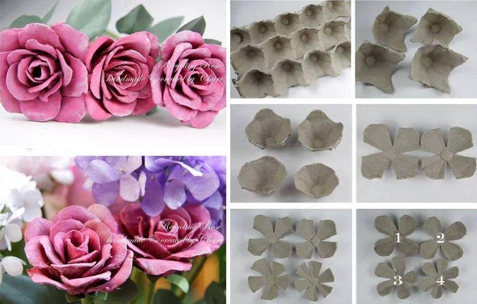 Fleurs A Partir D Une Boite D Oeuf Tap Recyclage Pinterest
