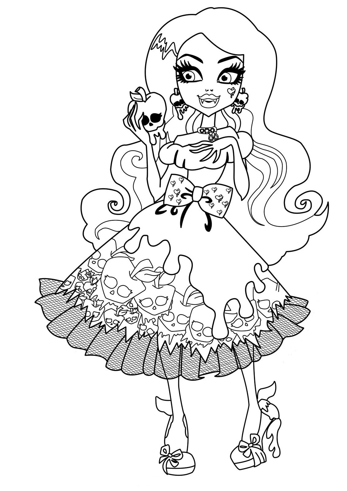 Draculaura Monster High Dolls Coloring Pages