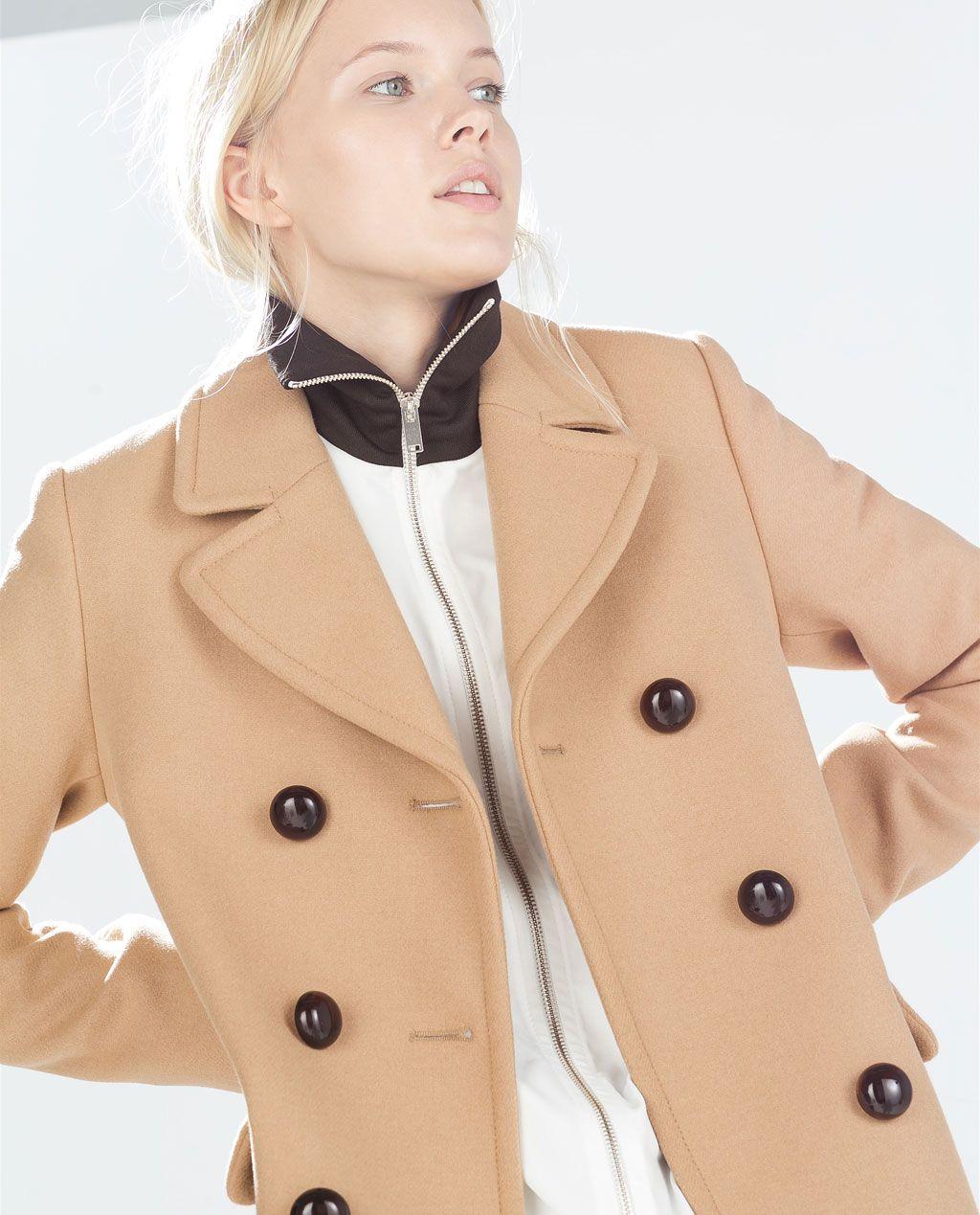 Camel Zara Me Que Gustan Coat Botones Looks Mujer Abrigo 8qA8pf