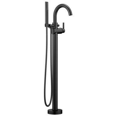 Delta Trinsic Floor Mount Tub Filler Matte Black Tub Faucet