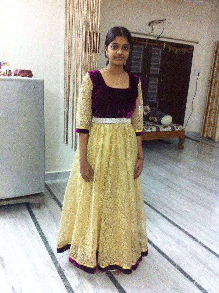 1ad742ea03ad Elegant Fashion Wear  Long Frock With Velvet Cloth
