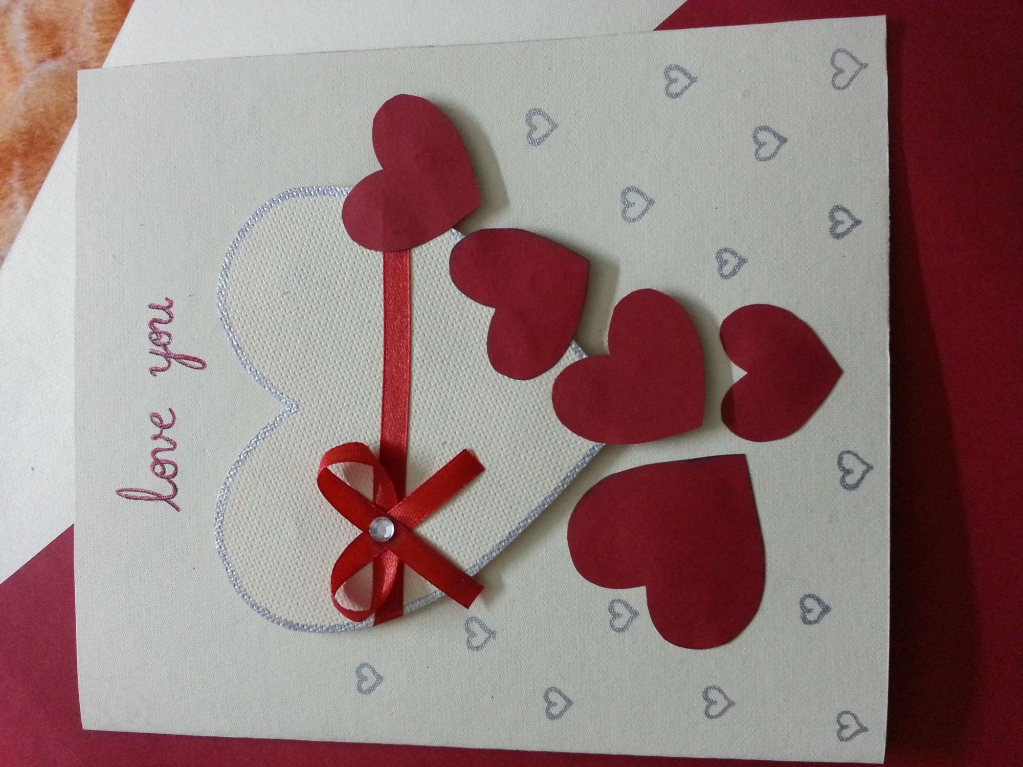 Hand Card Making Ideas Part - 26: Ideas Of Handmade Cards With Love - 2015 - 2016