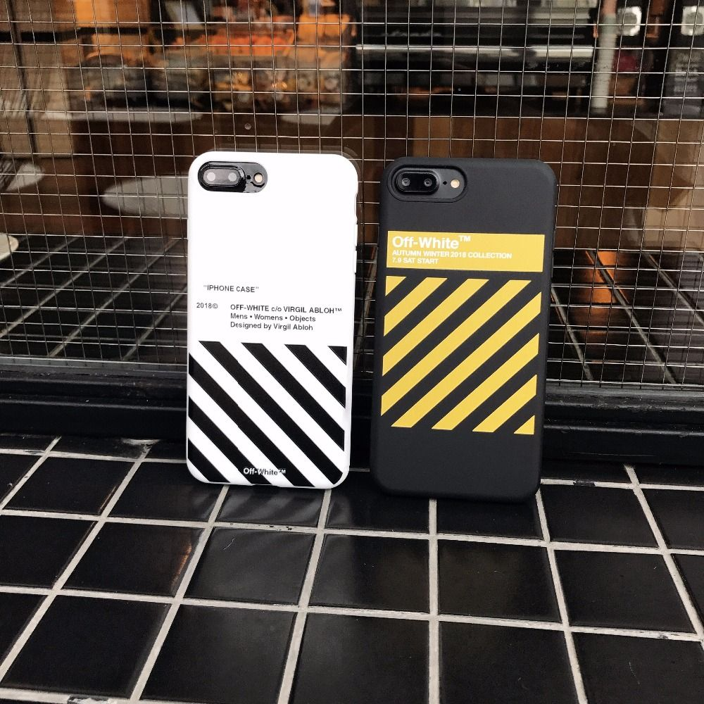 2017 New OFF WHITE Zebra Soft TPU Case For iphone 7 7plus