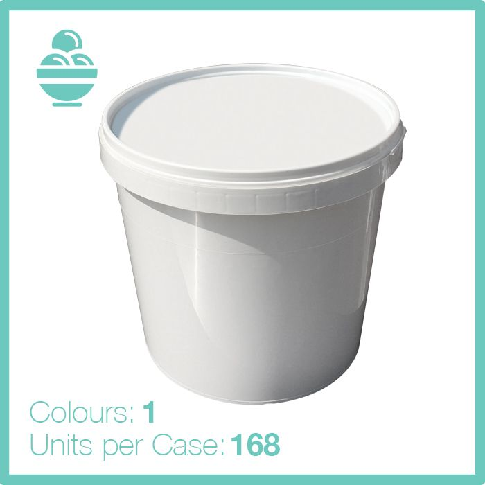 1 Litre Round Tamper Evident Container and Lid 1 to 10 Litre Food