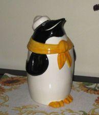 Vintage METLOX CALIF USA Pottery PENGUIN COOKIE JAR - MINT CONDITION!