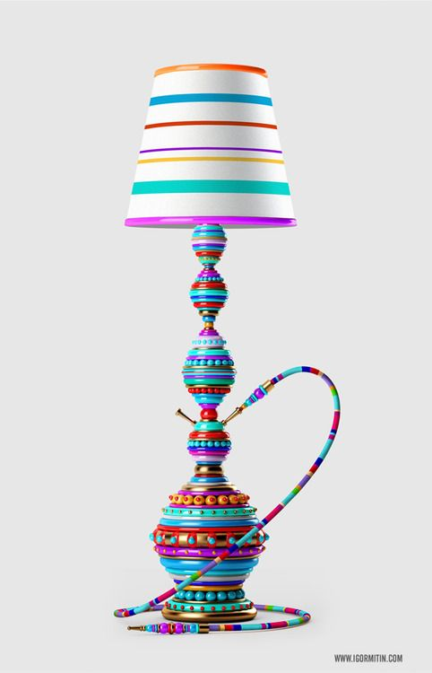 A Decorative Hookah Lamp Check Out The Lux Lounge Blog Page To