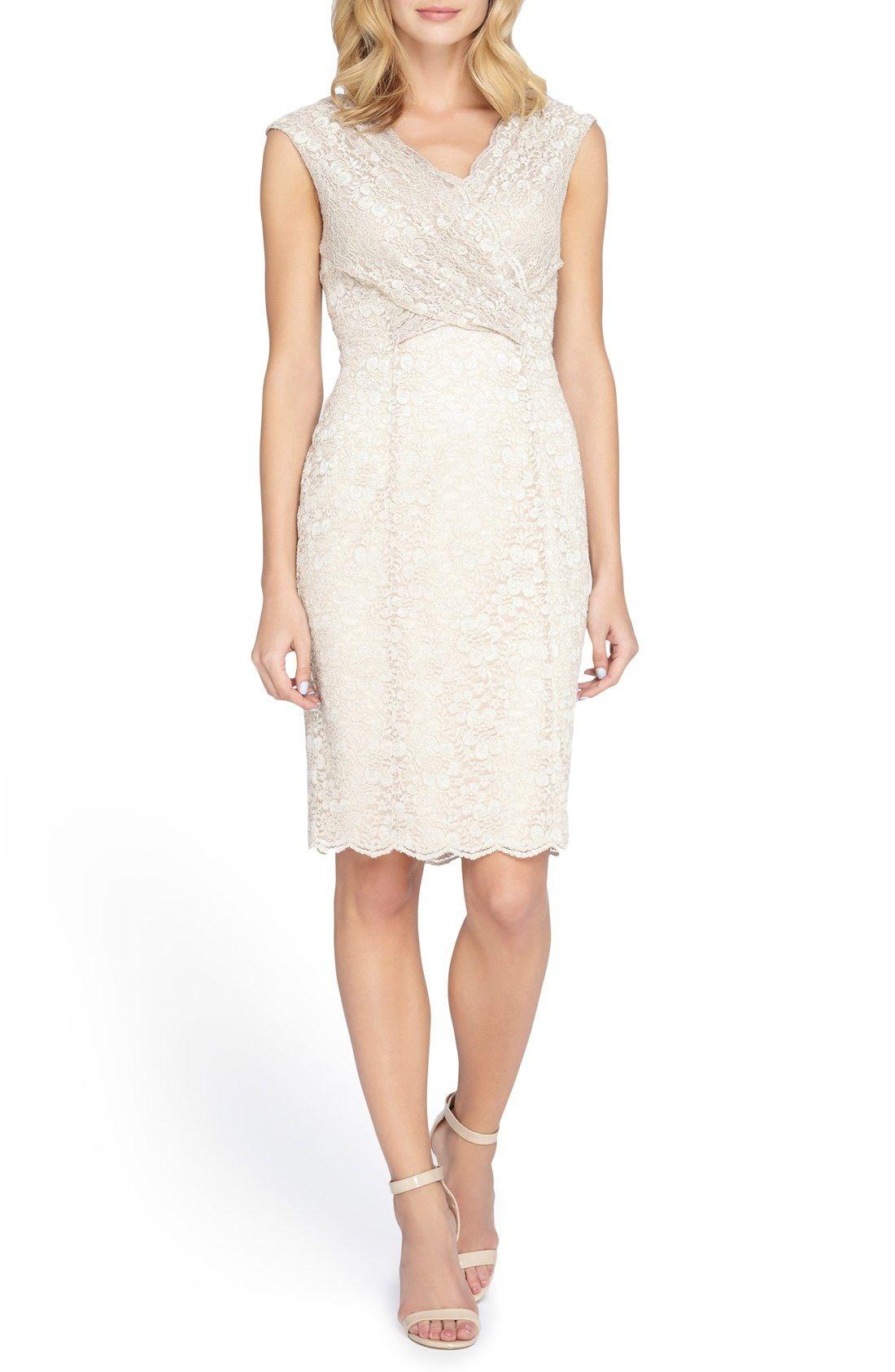 Nordstrom dresses wedding guest  Tahari Cross Front Lace Sheath Dress Regular  Dresses  Pinterest