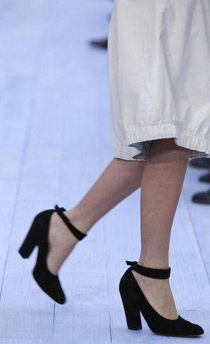 Chloe; FW 2012 I bought shoes just like this at Charles Jourdan (remember him?) in Paris, 1984.