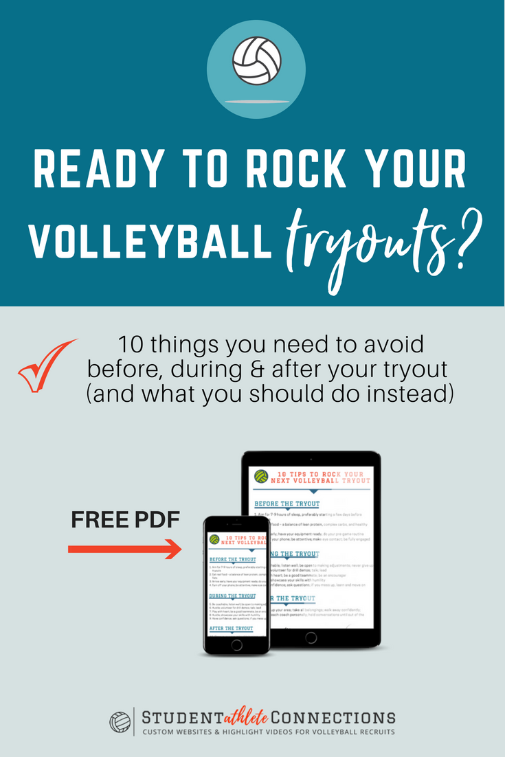 Wanna Rock Your Volleyball Tryouts Avoid Doing These Things Volleyball Tryouts Volleyball Student Athlete