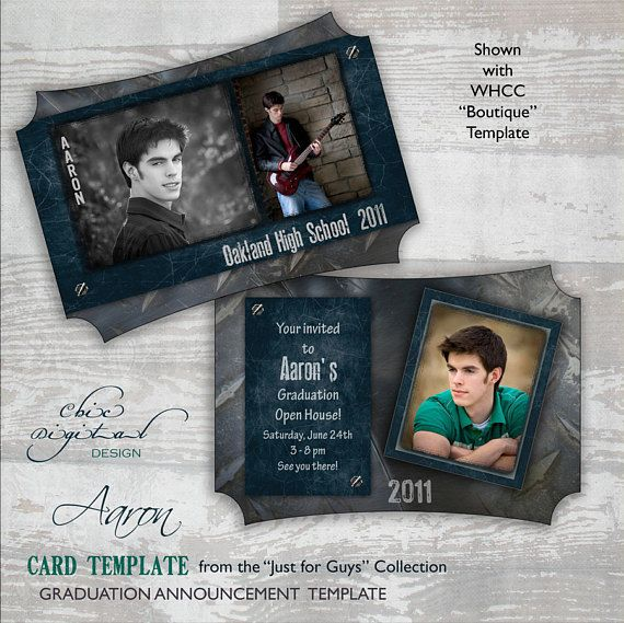 Graduation Announcement Card Template for Photographers - 5x7 Guys