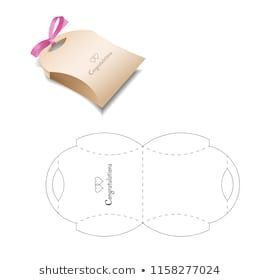 Photo of Retail Box with Blueprint Template – Paper Diy