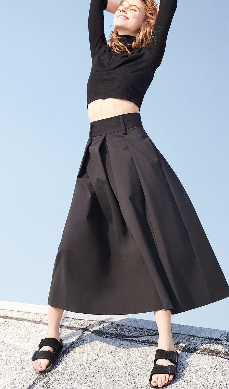 Tibi Agathe High-Waisted Skirt Birkenstock Arizona Shearling-lined Birkenstock