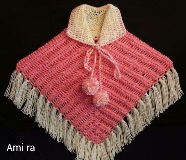 Capas y Ponchos para niñas a Crochet | Bb | Pinterest
